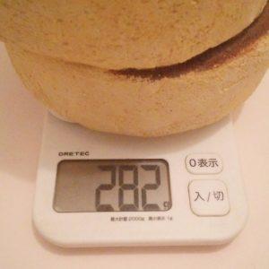 パンケーキ植木鉢の重さ