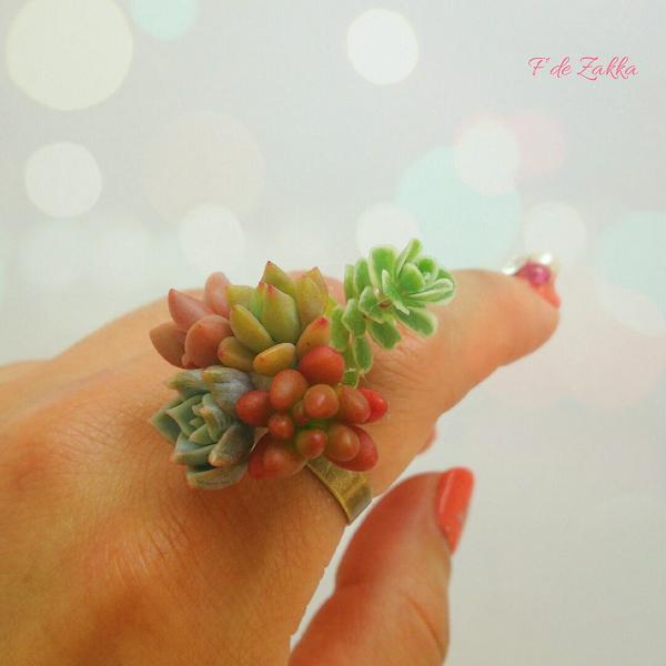 多肉植物の指輪