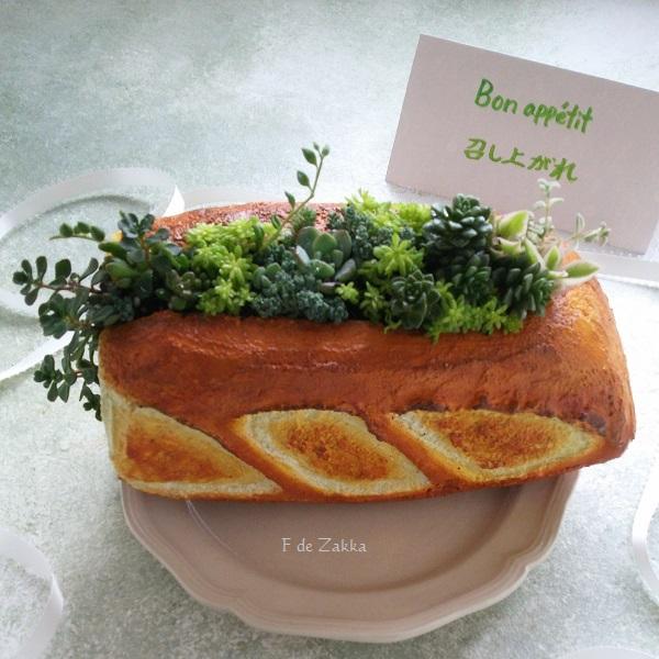 フランスパン植木鉢