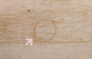 家具のシミ