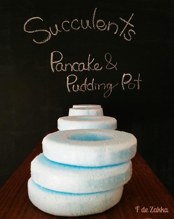 パンケーキとプリン植木鉢