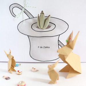 シルクハットの植木鉢
